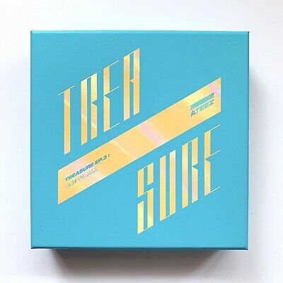 Ateez Treasure One To All Wave Version No Photocard Cd Album Official Kpop