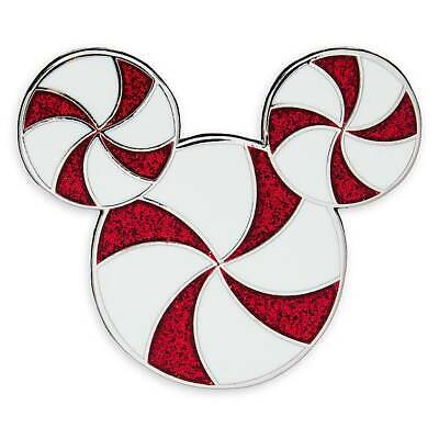 Disney Parks Mickey Mouse Icon Peppermint Holiday Pin New with Card