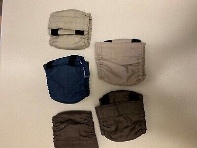 Lot of 5 Drs Foster and Smith Male Dog No-Leak Wrap Garment Size Small