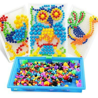 Intellectual Puzzle Peg Board 296 Pegs Educational Play Creative Gift For Kids
