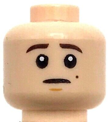 LEGO NEW FLESH MINIFIGURE HEAD WITH FRECKLES DUAL SIDED ANAKIN SKYWALKER FACE