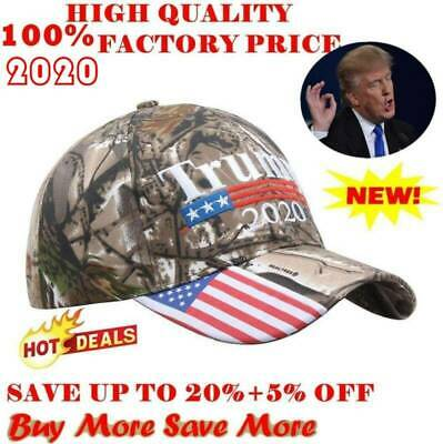 2020 President Donald Trump Cap USA Flag Camouflage Baseball Cap Make Hot Hat