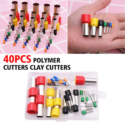 40Pcs Polymer Clay Cutters Stainless Steel Round Cutters for Pottery HOT