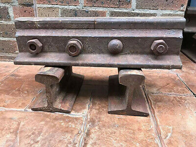 2 X Train Track / Rail Sections With Joiners,  Nuts And Bolts