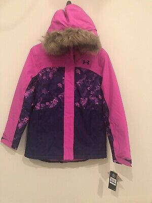 Under Armour Winter Ski Snowboard Youth Girls Jacket Insulated YXL Coat Storm