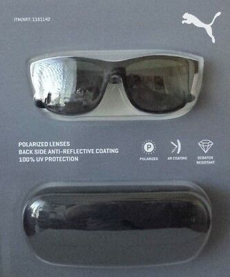 New Authentic PUMA PE0007S 001 Matte Black//Grey Lenses 55mm Sunglasses