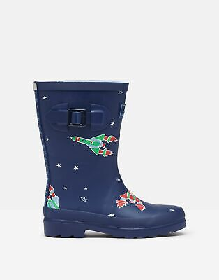 Joules 209687 Printed Wellie Boots - BLUE ROCKET