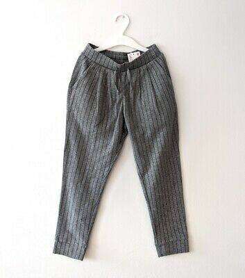 Brand New Uniqlo Grey Pin Stripe Trousers S 5-6YRS Sweatpants Girls BNWT