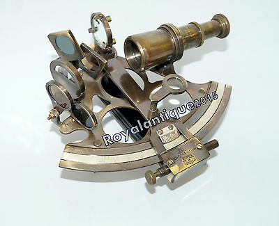 Nautical Solid SEXTANT  Working Instrument Astrolabe Marine Antique Finish Gift