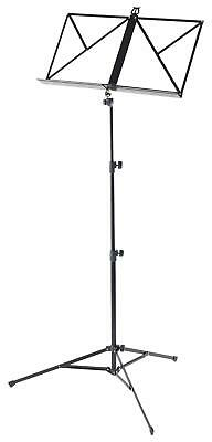 Classic Cantabile Metal Folding Sheet Music Stand Light Tripod Base Holder Black