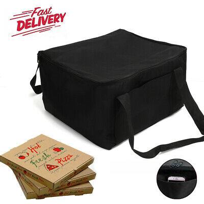 Hot Food Pizza Takeaway Restaurant Delivery Bag Thermal Insulated 36x32x22cm UK