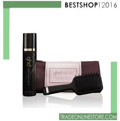 GHD STYLE GIFT SET heat protect spray and mini paddle brush