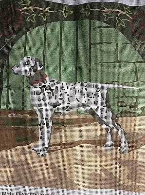 Sara Davenport Victorian Tapestries Printed Canvas only    Dalmation no D016
