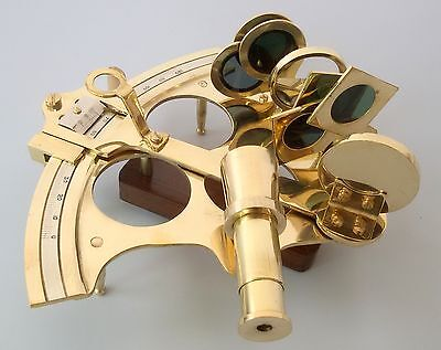 Solid Brass Nautical Collectable Large 6 Inch Sextant Gift Item