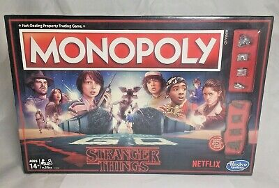 Monopoly Stranger Things Edition Board Game 80s Hasbro Netflix Eleven SEALED NEW