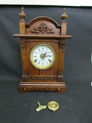Co.1890 Fattorini & Sons Bradford Patent 16226, Oak Cased Automatic Alarm Clock