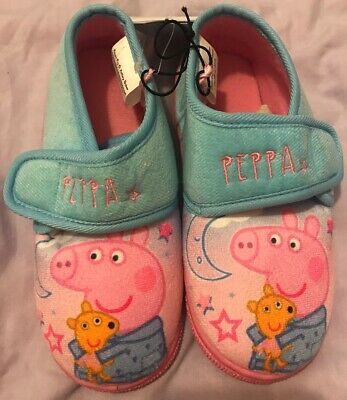 Peppa Pig Slippers Size 12 Peppa Pig Girls Pink Slippers Christmas Gift Present