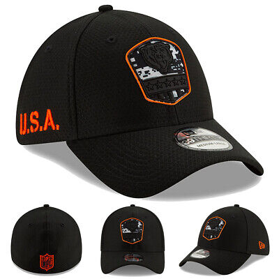 NEW 2019 New Era Chicago Bears Salute to Service Cap Hat 39THIRTY Flex STS NWT