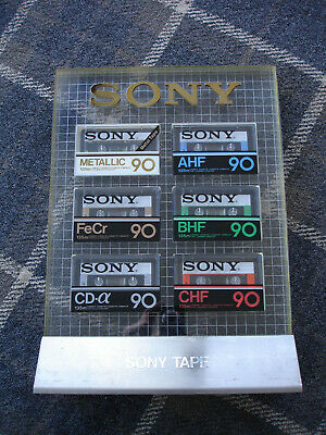 Sony Promotional Audio Cassette Stand - Complete