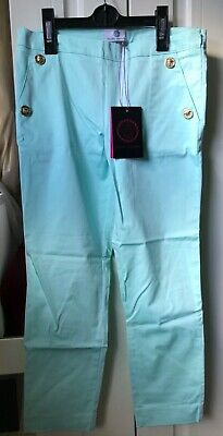 Young Versace girl's torquoise trousers 10 years old BNWT