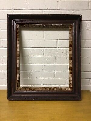 "Antique Vintage Wood With Gold Gilt Arts And Crafts Frame 22"" X 19"" X 2"""