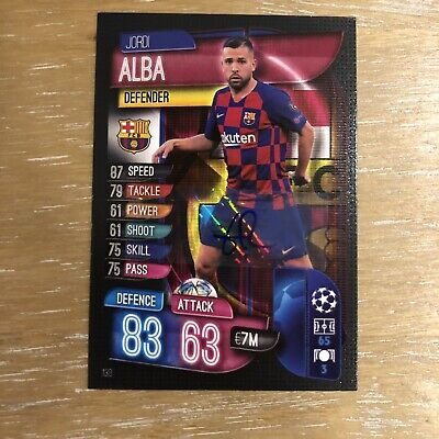 SUPER RARE Signed Match Attax 2019/20 Jordi Alba Autograph Topps Hologram Strip