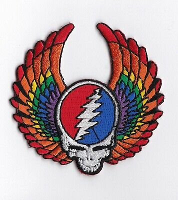 GRATEFUL DEAD - STEAL YOUR FACE WITH WINGS - IRON or SEW-ON PATCH