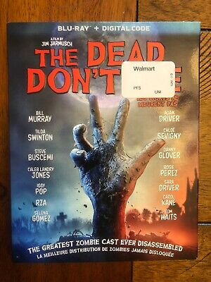 The Dead Don't Die (2019 Bluray + Digital) Free Shipping in Canada! w/ slipcover