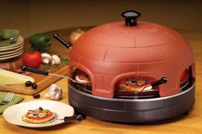 ** SUPERB ** PizzaDome Rustic Table Top Pizza Oven for 6 people - Real Brick