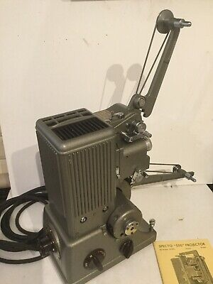 Specto 500 Vintage Film Projector With Case And Instruction Manual Book