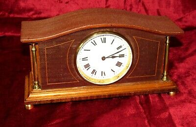 Nice French Mahogany Cased Clock With A Platform Movement