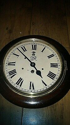 "antique 8"" dial goverment issue  wall clock"