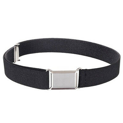 Kids Boys Girls Wide Belt Decorative Casual With Buckle Adjustable Solid Stretch