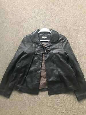 As New Chloe Brown Lambskin Leather Coat UK 12