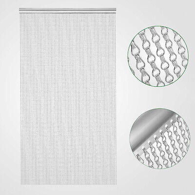 DOOR FLY CURTAIN Aluminium Metal Chain Link Bug Pest Control Insect Screen 900mm