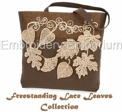 Freestanding Lace Leaves - Machine Embroidery Designs On Cd Or Usb