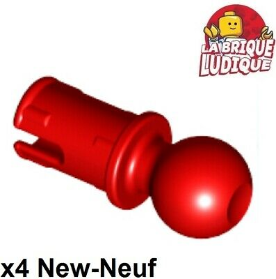 4x Pin with Friction Towball rotule boule rouge//red 6628 NEUF Lego technic