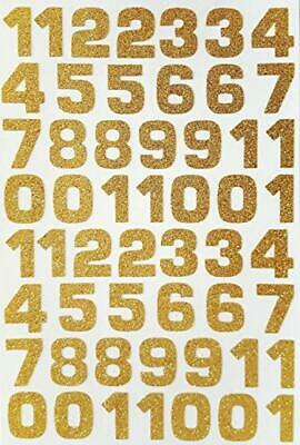 Glitterati 54 GOLD Glittery Self Adhesive NUMBER Stickers
