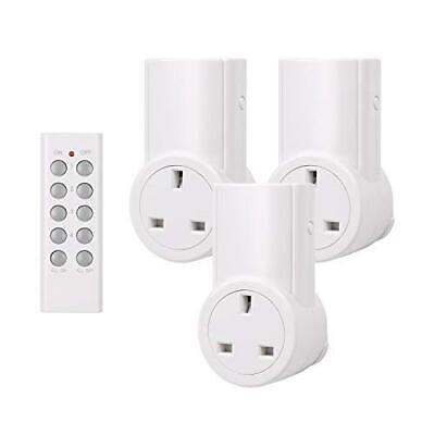 HBN Wireless Remote Control Sockets Programmable Electrical Light Plug...