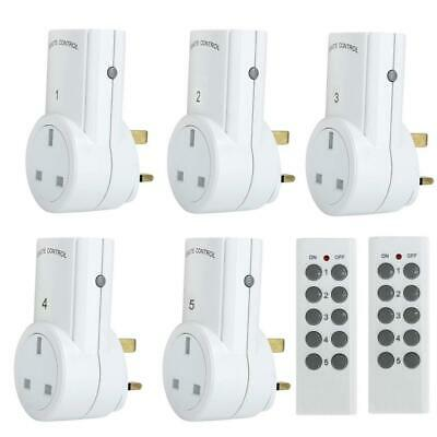 Discoball Wireless Remote Control Sockets Convenient Home Programmable 5 Pack