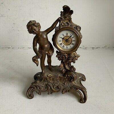 Antique Ormalu Clock French Style Victorian