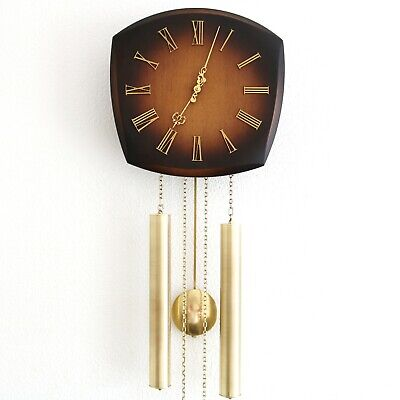 JUNGHANS Vintage Wall Clock LOUDSPEAKER!! Chime SPECIALTY 1960s Germany SERVICED