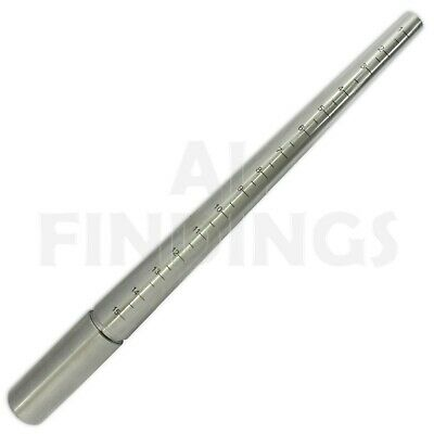 Ring Sizer Stick 1-15 And Steel Ring Mandrel Triblet Combined Jewellery Tool
