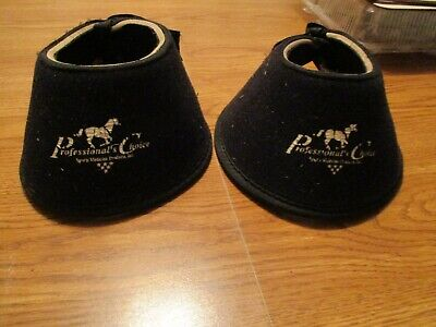 X Large Professional Choice Easy On Rubber Horse Bell Boots Black U--BLA