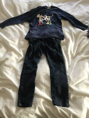 Frugi Girls Jeans And Top Size 4-5 Years