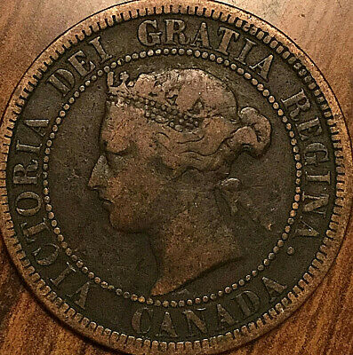 1881H CANADA LARGE CENT PENNY LARGE 1 CENT COIN - Dp N?