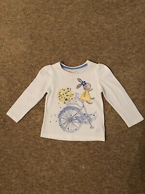Mothercare girls bunny long sleeved top 9-12 months