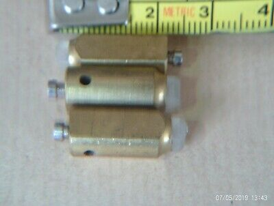 New old 3 stock brass nylon tipped clock gong hammers