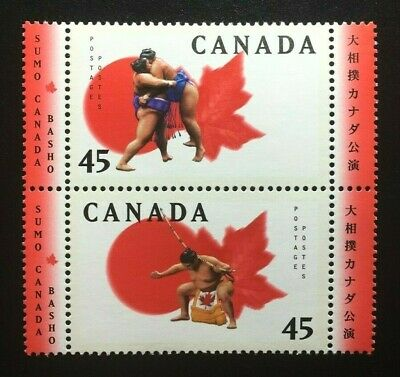 Canada #1723-1724a MNH, Sumo Canada Basho Pair of Stamps 1998