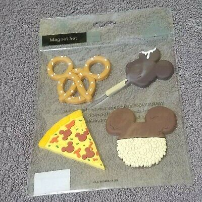 Disney Parks set of 4 Icon Food Magnet Mickey Mouse